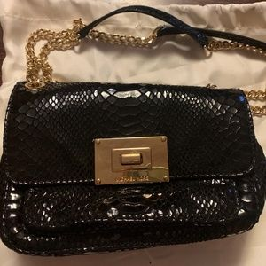 Michael Kors Black Python handbag with dust bag